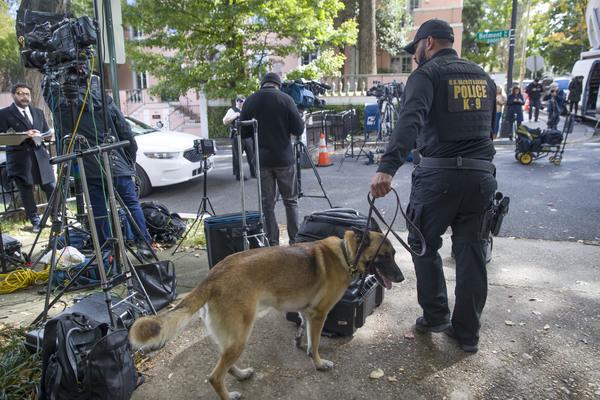 Полицейские обыскивают территорию возле дома Барака Обамы