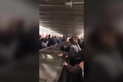 Появилось новое видео обрушения эскалатора с россиянами в римском метро