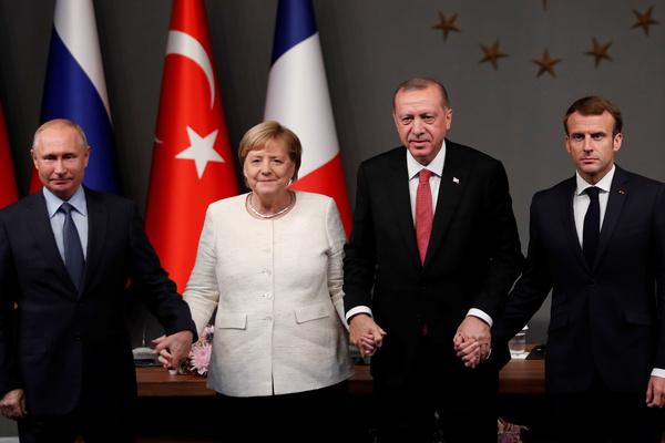 Участники саммита по Сирии в Стамбуле