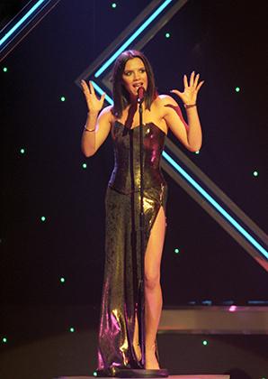 Виктория Адамс, она же Posh Spice, на концерте The Royal Variety Performance, 1997 год