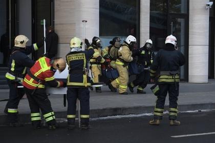 У здания Счетной палаты в Москве произошел крупный пожар