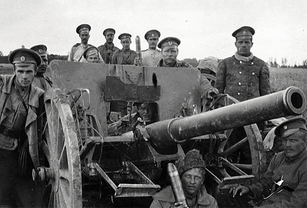 Последний снаряд. Расчет на позиции. Отступление из Галиции. 1915 год