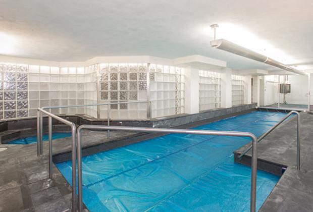 Бассейн особняка Шерманов. Там были обнаружены их тела 15 декабря 2017 года