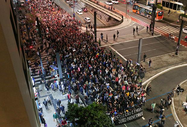 Протест против Болсонару
