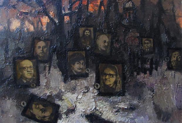 Дружба с Кропивницким действительно стала судьбоносной для Рабина — художник вошел в его неформальный творческий кружок, который КГБ впоследствии прозвал Лианозовской группой, а в 1950-м Рабин женился на дочери Кропивницкого Валентине. После свадьбы Лианозово стало местом жительства новой семьи, а также точкой собраний художников-единомышленников и источником вдохновения для многих картин Рабина. Они жили в бараке, который ранее занимали заключенные. Эта приземистая лачуга и соседствующие с ней пейзажи из раза в раз появлялись в работах художника: «Я рисовал все, что окружало меня. Тусклые лампочки над сараями, обвисшие провода на покосившихся балках, бездомные собаки».