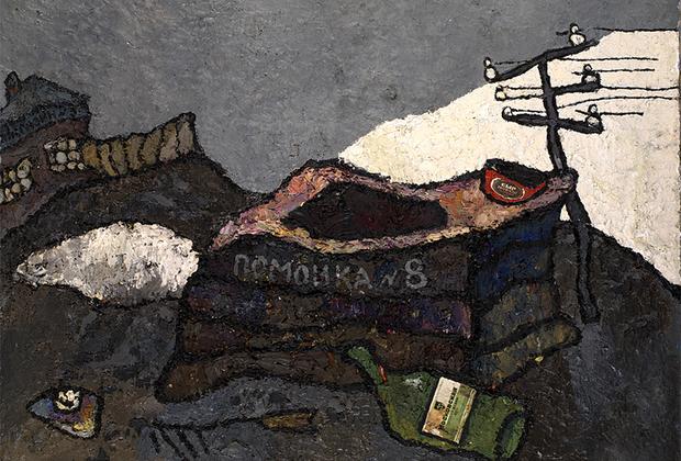 В те времена Рабин работал на строительстве Северной водопроводной станции, а затем — в отделе железнодорожного транспорта. В 1956-м он наконец ушел с осточертевшей работы и устроился на комбинат декоративно-прикладного искусства. В Союзе тем временем наступала хрущевская оттепель. Рабин с женой стали устраивать выставки картин в своем лианозовском бараке. А в 1960-м в «Московском комсомольце» внезапно появилась статья, в которой некий разгневанный гражданин жаловался на картину Рабина с изображением местной помойки. Художника назвали «очернителем» и «духовным стилягой». После появления публикации он ждал репрессий, но их, к счастью, не последовало.