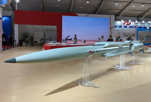Сверхзвуковая ракета HD-1 класса «поверхность-поверхность» предназначена для поражения наземных и морских целей. Оружие получило прямоточный воздушно-реактивный двигатель. Скорость ракеты достигает 3,5 числа Маха, масса — 2,2 тонны, высота полета варьируется от 5 метров до 15 километров, дальность — 290 километров. Мобильная пусковая установка вмещает шесть таких ракет. <br><br> Испытания оружия ведутся с мая. Интерес к приобретению и участию в разработке таких ракет проявляет Пакистан.