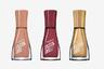 «Багрец и золото» в новой линии быстросохнущих лаков для ногтей из коллекции Insta-Dri марки Sally Hansen: с деревьев осенние листья уже облетели, но память об их великолепных оттенках остается в маникюре.