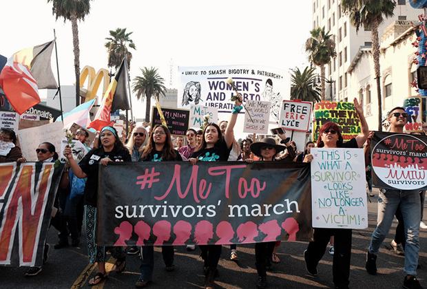 Марш движения #MeToo в ноябре 2018 года, Голливуд