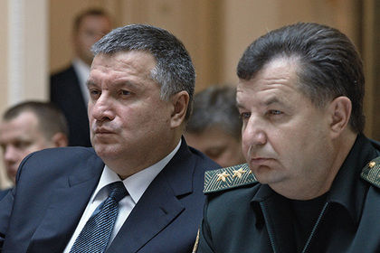 Арсен Аваков (слева) и Степан Полторак