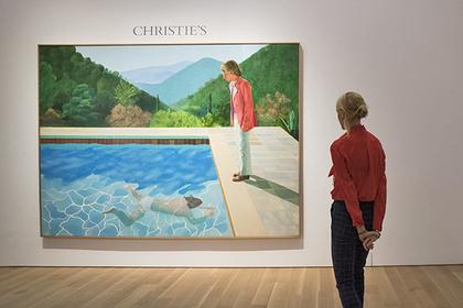 Картина Дэвида Хокни «ÐŸÐ¾Ñ€Ñ'реÑ' художника (Бассейн с двумя фигурами)»