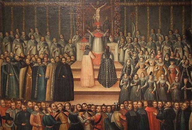 Свадьба Лжедмитрия I и Марины Мнишек поразила современников. Марина и остальные поляки во время церемонии сидели, сама невеста отказалась целовать православный крест, а завершился вечер непривычными для москвичей танцами.