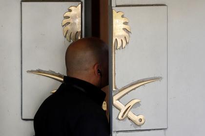 Двери консульства Саудовской Аравии в Стамбуле