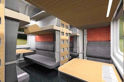 Пассажирам показали облик капсульного плацкартного вагона