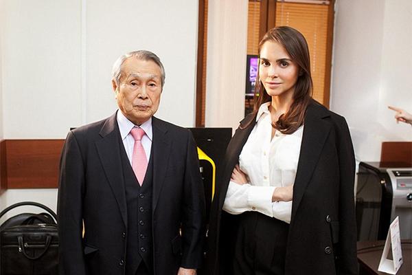 Президент компании Enhel Group Юлия Энхель и японский ученый Тазава Кенджи