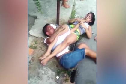 Девушка избила грабителя и заставила молить о пощаде
