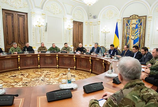 Заседание Совета национальной безопасности и обороны (СНБО) Украины