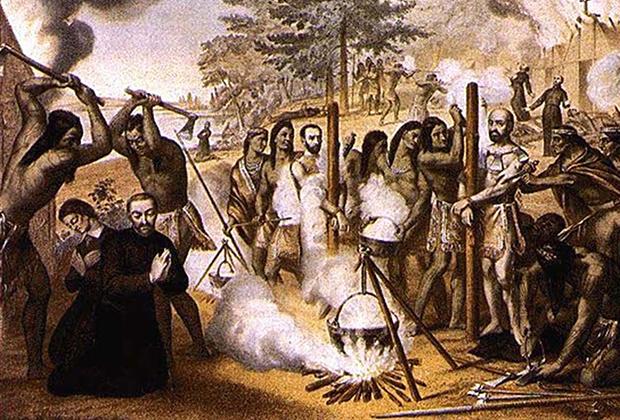 Канадские мученики в 1649 году (гравюра XVIII века)