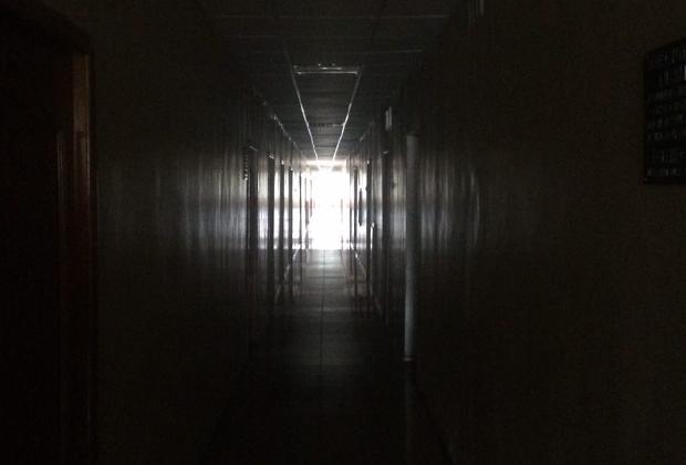 Коридор в здании администрации Сафоновского района