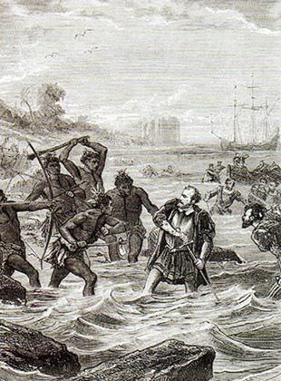 Смерть Магеллана (гравюра 1860 года)