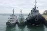 Корабли ВМС Украины, задержанные пограничной службой РФ