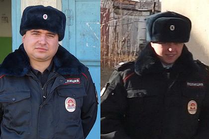 Старшие сержанты полиции Павел Шлапак и Сергей Крупенко