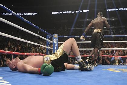 Фьюри дважды побывал в нокдауне и провозгласил себя победителем боя с Уайлдером