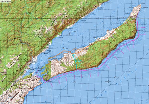 Карта Байкала для конькового похода