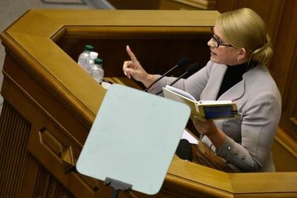 Тимошенко заподозрила искусственность военного положения на Украине