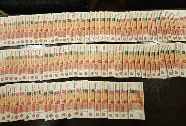 Деньги, изъятые у Рубашкина