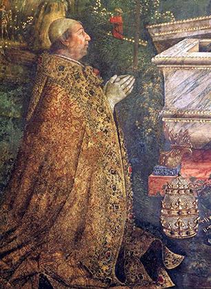 Одно из самых известных изображений Папы Александра VI кисти Пинтуриккьо.