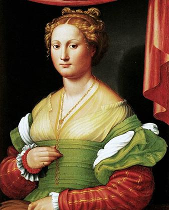 Портрет Ванноццы деи Каттанеи кисти Иноченцо Франкузи. Она не только пережила своего возлюбленного, но и похоронила всех своих детей, кроме Лукреции, которая скончалась на год позже матери.