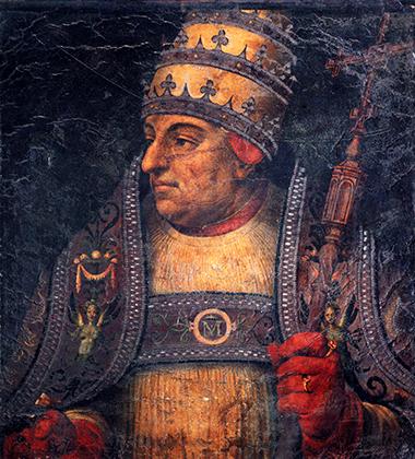Фреска с изображением Папы Александра VI Борджиа. Судя по ней, папа не был писаным красавцем, как можно было подумать, учитывая его многочисленные любовные победы.