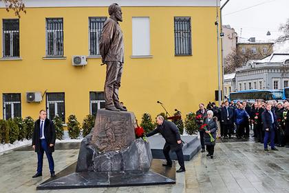 Церемония открытия памятника Александру Солженицыну в Москве