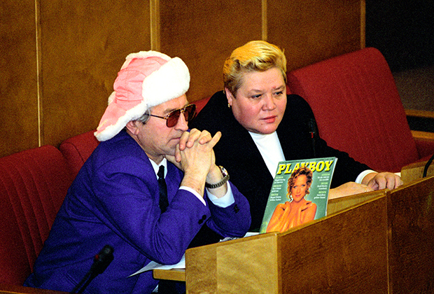 Депутат Марычев в зале заседаний Госдумы, 1995 год