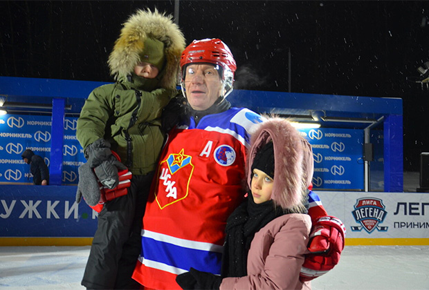 Владимир Потанин с детьми