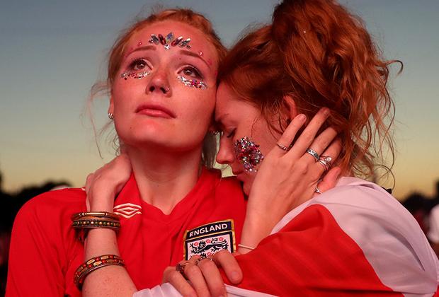 Болельщики сборной Англии по футболу удручены проигрышем команды на чемпионате мира по футболу в России.