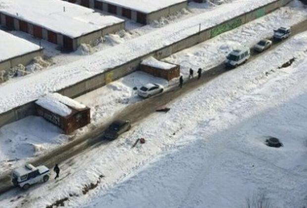 Место убийства Романа Зимина
