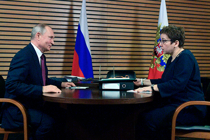 Владимир Путин и Нюта Федермессер