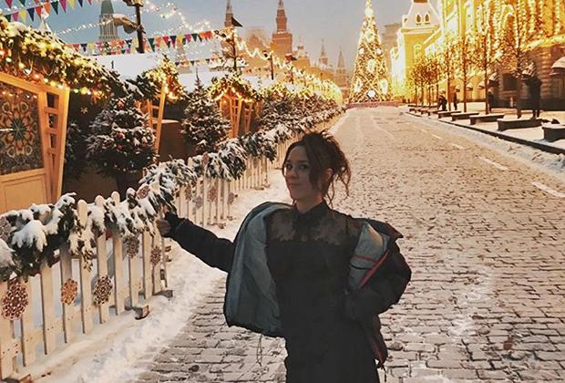 Певица ZAZ на Красной площади в Москве