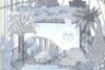 Автор принта в серо-голубой зимней гамме на шелковом платке-каре, чей рисунок напоминает фрагменты барочных гравюр и театральные декорации XVIII века, — художник Эдуар Барибо (Edouard Baribeaud).