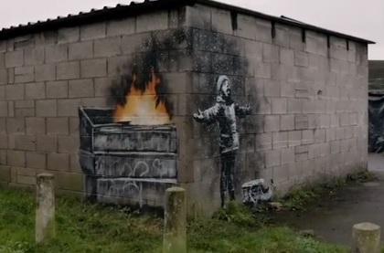Бэнкси нарисовал новые граффити нагараже вВеликобритании