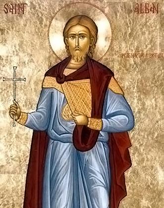Святой Албан — один из первых христианских миссионеров, высадившихся на Британский островах. Многие считают именно его одним из основоположников христианства в Англии.