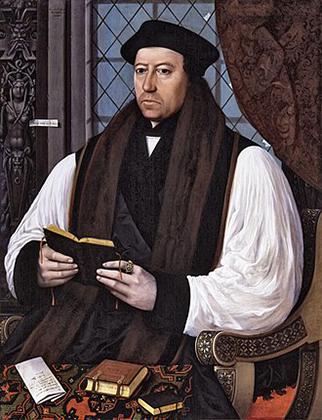 Томас Кранмер — архиепископ Кентерберийский, при котором произошло отделение церкви Англии от Рима. Он легко отдал многие церковные богатства, включая лучшие дворцы, короне, зато активно выступал за реформы богословия.
