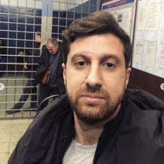 Амиран Сардаров в отделении полиции