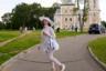 Ярославская область, август 2015. <br> <br> «Городская сумасшедшая» Кристина — известный персонаж в Угличе. Женщина создает своими руками уникальные наряды и гуляет в них в любую погоду в центре города. Раньше она мечтала выйти замуж за принца Уильяма.