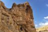 Согласно житию святого Саввы Освященного, до того как основать лавру, монах-подвижник провел в уедиенной пещере на краю обрыва на левой стороне ущелья Кедрон (куда его якобы привел ангел) пять лет в посте и молитвах. В склонах Кедрона и сейчас много молитвенных пещер. Они отмечены знаком креста. Вход в пещеру забран решеткой — также с изображением православного креста и буквами «A» и «С» («агиос Савва», то есть святой Савва). В самых просторных гротах ущелья устроены действующие скиты (отдельные кельи) для монахов-отшельников, которые приходят в лавру редко, — на праздничные и другие общие богослужения.
