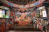 Все пространство стен и купола над ракой с мощами святого Саввы Освященного покрыто яркими фресками, запечатлевшими сцены из его жития — в том числе и касающиеся строительства лавры. Мощи преподобного были возвращены в лавру в 1965 году по решению папы Римского Павла VI (к нему с просьбой о возврате святыни обратился патриарх Венедикт) и с тех пор они находятся в Благовещенском соборе.