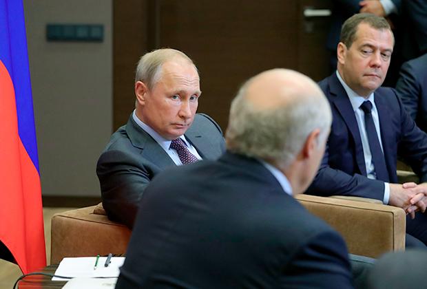 Владимир Путин, Александр Лукашенко и Дмитрий Медведев