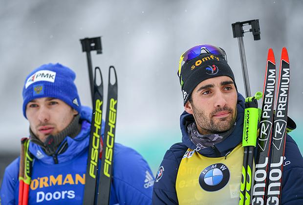 Антон Шипулин (слева) и Мартен Фуркад